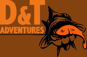 D&T_Adventures_Daniversion schwarz- orangener Schrift und Fisch